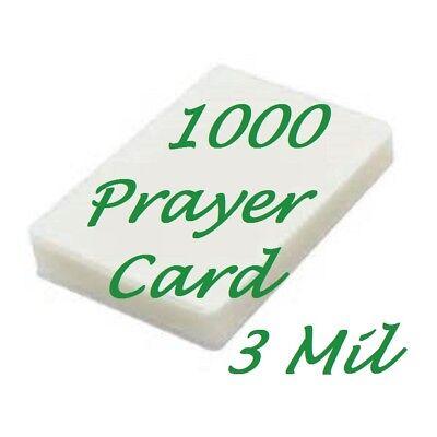 1000 Prayer Card Laminating Pouches Sheets 3 Mil 2 3 4 X 4 1 2 Scotch Quality