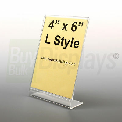 4x6 Acrylic Slanted Photo Booth Frames, Made in USA
