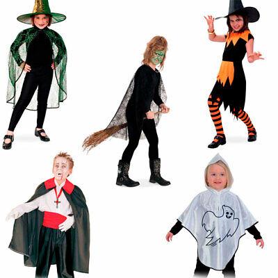 Fries Kinder Kostüm Halloween Fasching Karneval Vampir Hexe Geist Spinne