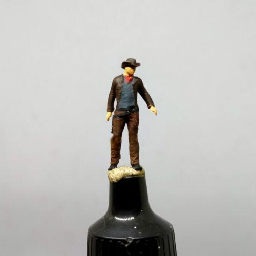 COWBOY GUNSLINGER DUEL HO 1:87 MINIATURE FIGURE NO PREISER