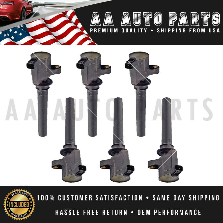 Pack 6 Ignition Coil For 2003 2004 2005 2006 2007 2008 Ford Escape 3.0L V6 FD502