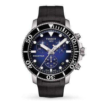 New Tissot Seastar 1000 Blue Dial Swiss Quartz Men's Watch T1204171704100