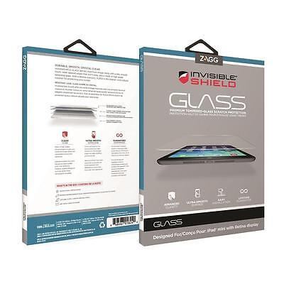 ZAGG InvisibleShield Glass iPad Mini & Mini w/ Ret 1 - 3 IM2GLS w/ Warranty