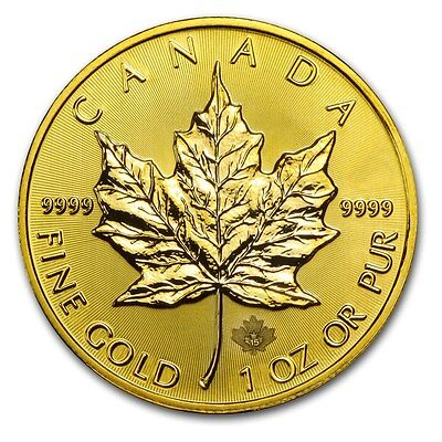 2015 1 oz Gold Canadian Maple Leaf Brilliant Uncirculated - SKU #87114