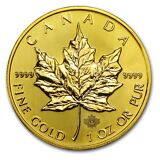 2015 1 oz Gold Canadian Maple Leaf Brilliant Uncirculated