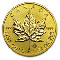 1 oz Canadian Maple Leaf Brilliant Gold Coin