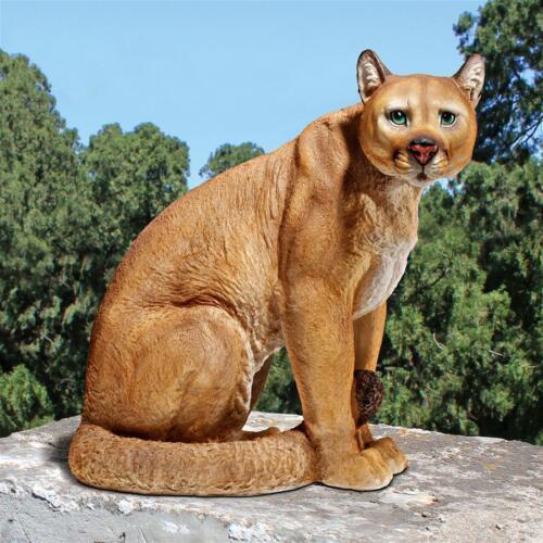 AMERICAN MOUNTAIN CAT COUGAR SCULPTURE Outdoor Garden Patio Puma Predator Statue
