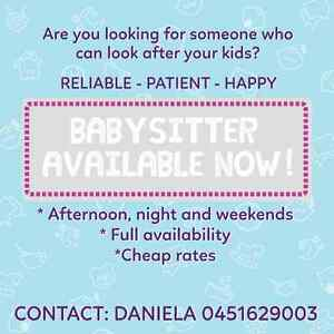 BABYSITTER AVAILABLE NOW Spring Hill Brisbane North East Preview