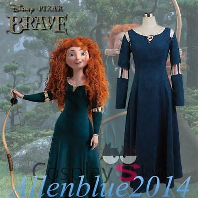 Film Brave Merida Adult Womens Costume Princess Dress female Uniform Cosplay New