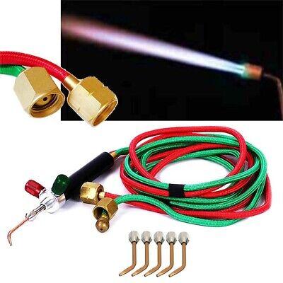 Mini Gas Welding Cutting Kit Oxygen Oxy Acetylene Torch Welder Tool 5 Nozzles