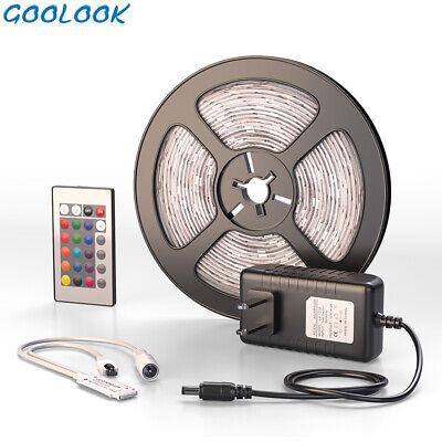 US Seller LED Strip Light RGB SMD 2835 Flexible Ribbon RGB Stripe 5M tape kit