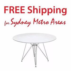SALE - Eames Eiffel Style Steel Dining Table (dia 120cm) Zetland Inner Sydney Preview
