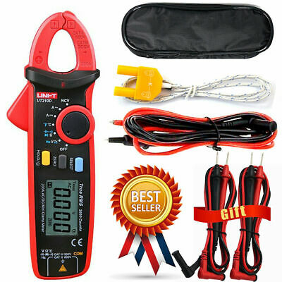 Uni-t Ut210d Clamp Meter Acdc Current Voltage Digital Multimeter Temp Tester