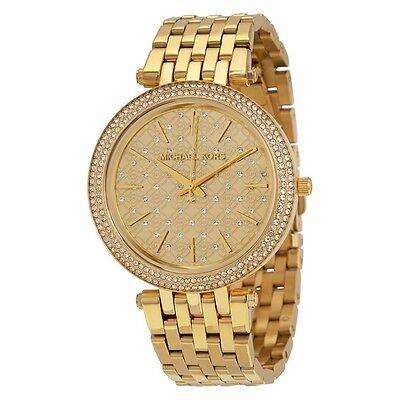 MICHAEL KORS MK3398 Darci Gold Tone Crystal Dial Ladies Wrist Watch FreeShipping