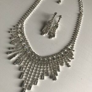 Lot of formal crystal jewelry