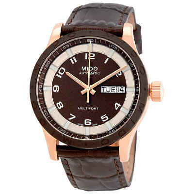 Mido Multifort Automatic Brown Dial Unisex Watch M018.830.36.292.00 Dial Automatic Leather Watch