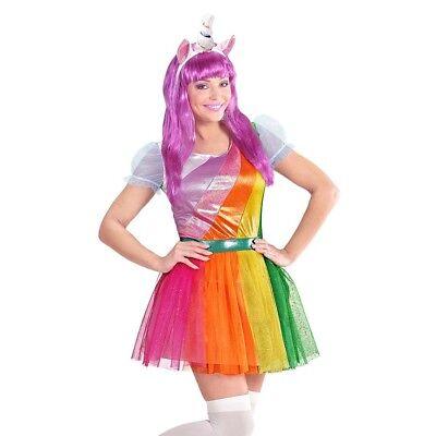 EINHORN DAMEN KOSTÜM & HORN # Karneval Märchen Unicorn Kleid & Haarreif Fee - Unicorn Horn Kostüm