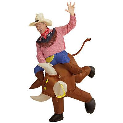 AUFBLASBARES COWBOYKOSTÜM # Bullen Rodeo Reiter Bullenreiten Cowboy Kostüm 75508 ()