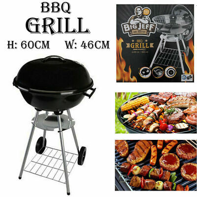 """BIG JEFF 18"""" KETTLE CHARCOAL BBQ MASTER GRILL OUTDOOR BARBECUE PARTY GARDEN 60CM"""