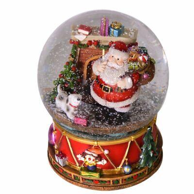 Palla di vetro Babbo Natale con neve e musica con batterie 3 x AAA Decorazione