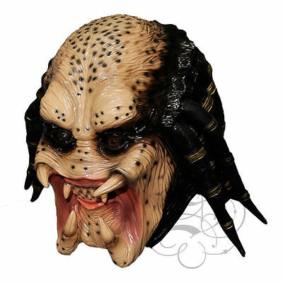 Halloween Movie Costume Aliean Hunter Head Latex  Horror Dress Up Party Masks](Head Hunter Halloween Costume)