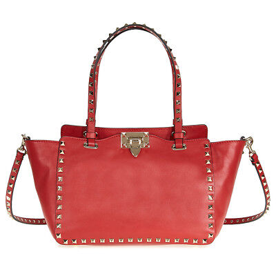 Valentino Rockstud Small Leather Tote - Red NW0B0037BOL 0RO