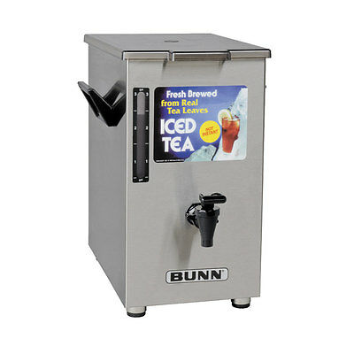 Bunn 03250.0005 Iced Tea Dispenser 4 Gallon Square w/ Brew-Through (Bunn Iced Tea Dispenser)