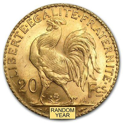 1899-1914 France Gold 20 Francs Rooster BU - SKU #167650