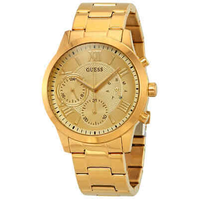 Guess Solar Gold Dial Ladies Watch W1070L2