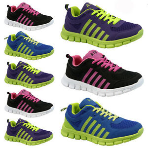 LADIES-WOMENS-GIRLS-SPORTS-GYM-JOGGING-RUNNING-CASUAL-TRAINERS-TRAINER-SIZE-3-8
