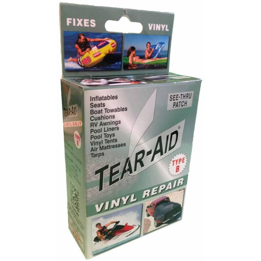 Tear Aid Kit Vinyl Inflatable Repair Tent Chair Rip Fix Leat