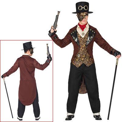 STEAMPUNK HERREN KOSTÜM & HUT Karneval Viktorianisches Fantasy Wave Gothic 0808