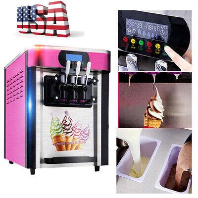 20lh 3 Flavor Commercial Frozen Ice Cream Cones Machine Soft Ice Cream Machine