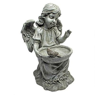 ANGEL CHERUB STATUE BIRD BATH FEEDER Sculpture Porch Patio Pool Balcony Lake Art