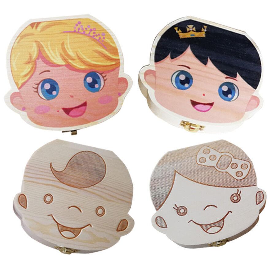 как выглядит Детская шкатулка Kids Boy&Girl Wood Tooth Box Organizer Baby Save Milk Teeth Storage Custom Made фото