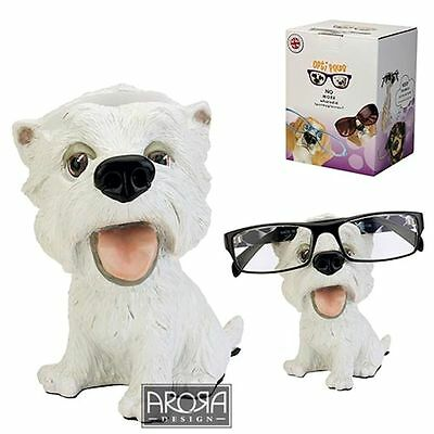 Optipaws Westie Dog Glasses Holder Figurine NEW in Gift box -