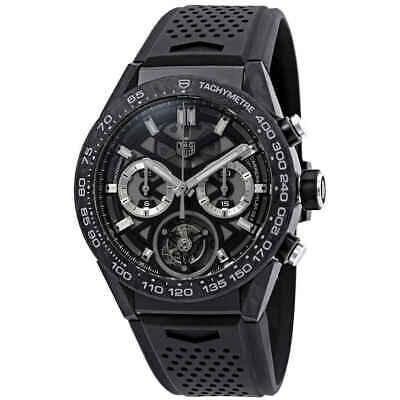 Tag Heuer Carrera 02T Tourbillon Chronograph Automatic Black Dial Mens Watch