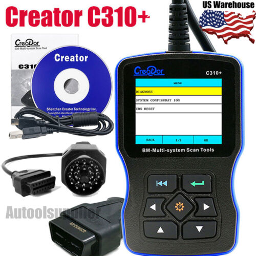 Creator C310+ Multi System Obd2 Code Reader +20pin For Bmw