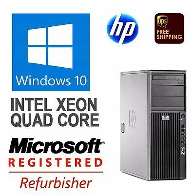 HP Z400 Workstations Xeon Quad-Core 3.2Ghz 12GB 128 GB SSD + 2TB  Windows 10 Pr