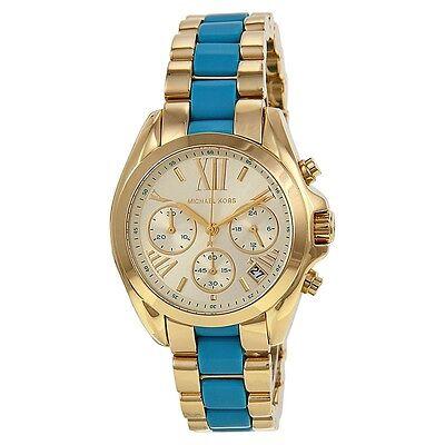 Michael Kors Women's MK5908 Bradshaw Chronograph Champagne Dial Two-tone Watch