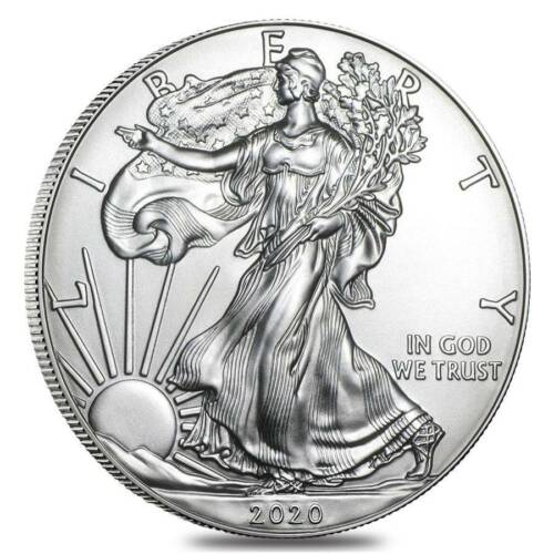 2020 1 oz American Silver Eagle Coin BU Lucky First Strike