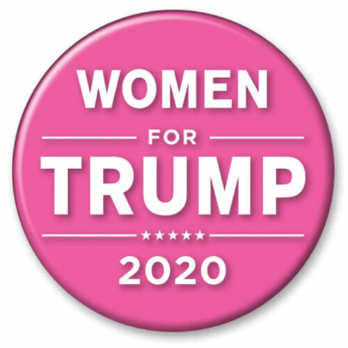 Women For Trump 2020 Pink - 2.25 Inch Campaign Button Pin Pinback