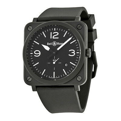 Bell and Ross Aviation Black Dial Mens Watch BLRBRS-BL-CEM