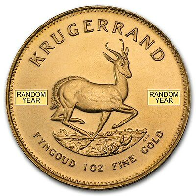 Random Year 1 oz Gold South African Krugerrand Coin - SKU #132930