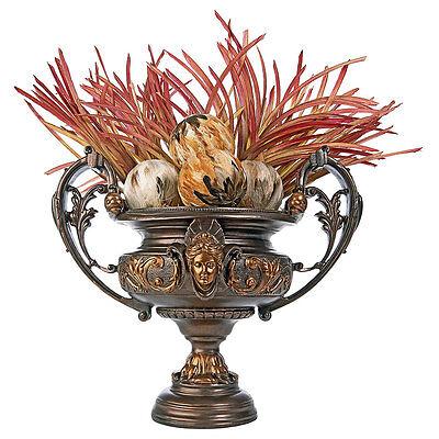 FRENCH ROCOCO CENTERPIECE URN DESIGN TOSCANO urn  vase  rococo  flowers  center