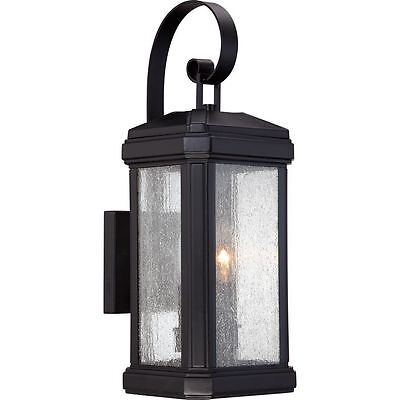 Quoizel Two-Light Outdoor Wall Lantern Fixture Black Finish TML8407K
