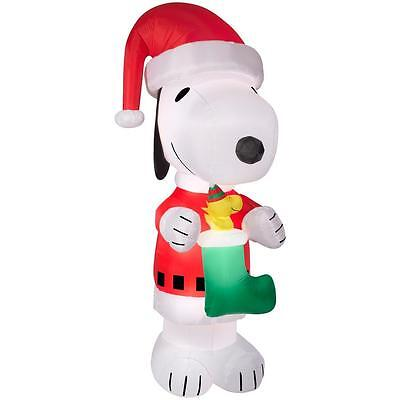 10 Ft Peanuts Snoopy Santa W/ Woodstock Christmas Airblown Inflatable Decor