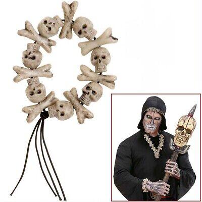 KNOCHEN TOTENKOPF ARMBAND Sensenmann Tod Knochenmann Voodoo Kostüm Schmuck 8596 (Voodoo Kostüm Schmuck)