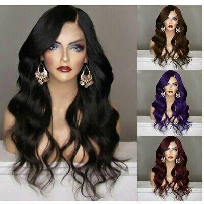 Curly Black Hair Halloween (Elegant Black Women's Wig Long Curly Synthesis Hair Halloween Party Full)