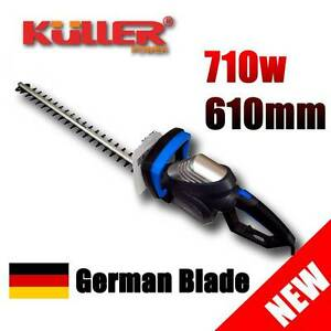 NEW KULLER Electric 710W Hedge Trimmer Rotatable Handle GERMAN LASERCUT BLADE